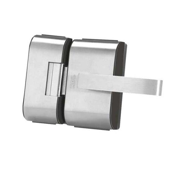 Fechadura Porta de Vidro PV-90 2F Cromada 2 Folhas e Furos HDL